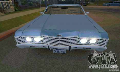 Mercury Monterey 1972 for GTA San Andreas left view