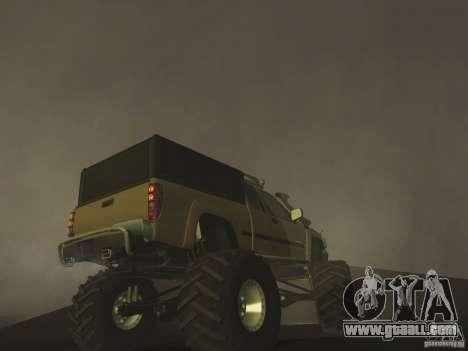 Chevrolet Colorado Monster for GTA San Andreas back view
