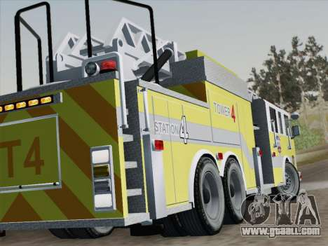 Pierce Arrow XT BCFD Tower Ladder 4 for GTA San Andreas bottom view