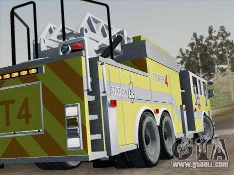 Pierce Arrow XT BCFD Tower Ladder 4 for GTA San Andreas bottom view