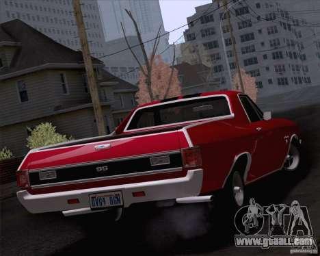 Chevrolet El Camino SS 70 Fixed Version for GTA San Andreas left view