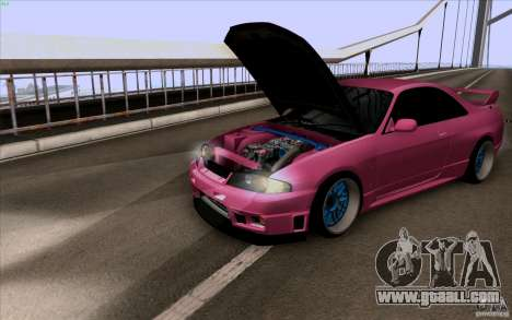 Nissan Skyline GTR 33 Fatlace for GTA San Andreas left view