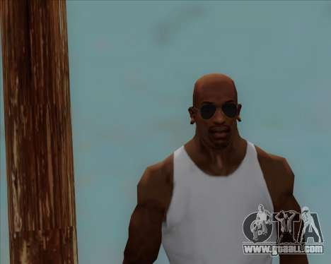 Blue glasses Aviator for GTA San Andreas forth screenshot