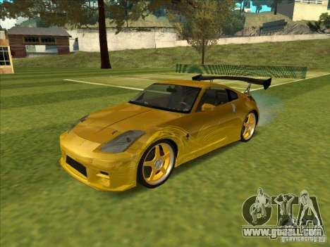 Nissan 350Z MORIMOTO from FnF 3 for GTA San Andreas left view