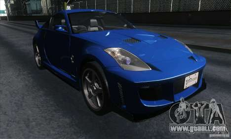 Nissan 350Z Varis for GTA San Andreas back view