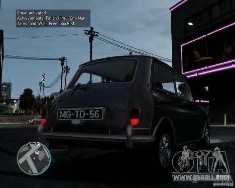 Austin Mini Cooper S for GTA 4 back left view