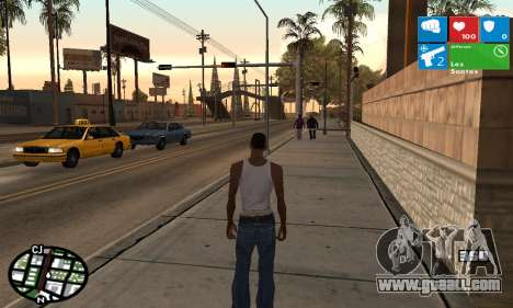 Windows 8 HUD for GTA San Andreas