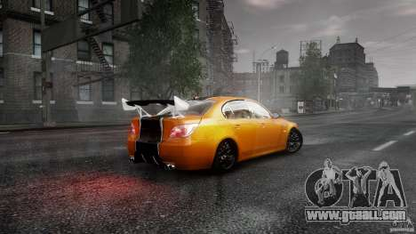 BMW M5 e60 Emre AKIN Edition for GTA 4 back left view