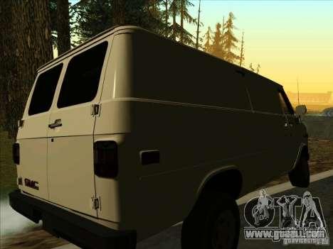 GMC Vandura C1500 for GTA San Andreas back left view