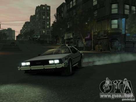 DeLorean BTTF 2 for GTA 4 left view