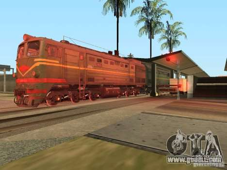 Diesel locomotive 2te10l for GTA San Andreas right view