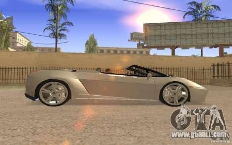 Lamborghini Galardo Spider for GTA San Andreas side view