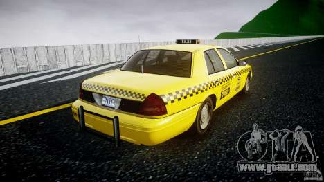 Ford Crown Victoria Raccoon City Taxi for GTA 4 inner view