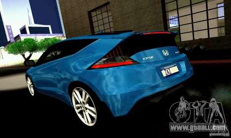 Honda CR-Z 2010 V2.0 for GTA San Andreas back view