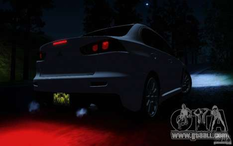 Mitsubishi Lancer Evolution X Tunable for GTA San Andreas interior