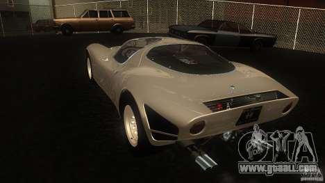 Alfa Romeo Tipo 33 Stradale for GTA San Andreas back left view