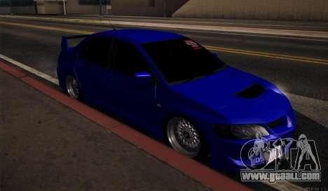 Mitsubishi Lancer Evolution for GTA San Andreas back left view