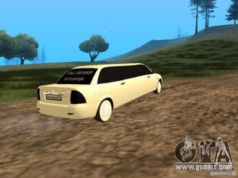 LADA 2170 Priora Limousine for GTA San Andreas left view