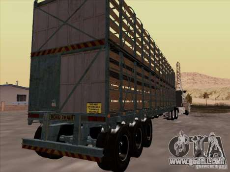 Trailer for Mack RoadTrain for GTA San Andreas right view