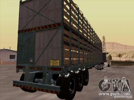 Trailer for Mack RoadTrain for GTA San Andreas right view