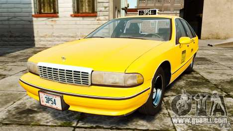 Chevrolet Caprice 1991 LCC Taxi for GTA 4