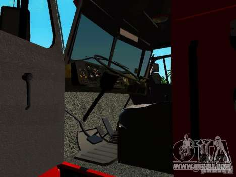 Ural 5557-40 fire for GTA San Andreas inner view