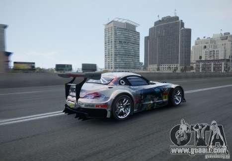 BMW Z4 GT3 2010 V.2.0 for GTA 4 back view