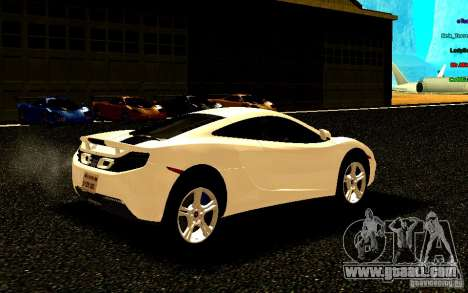 McLaren MP4-12C 2011 for GTA San Andreas right view