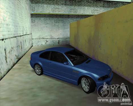 BMW M3 E46 stock for GTA San Andreas right view