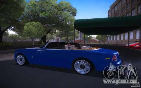 Rolls-Royce Phantom Drophead Coupe for GTA San Andreas left view