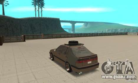 Saab 9000 GT Drifting 1998 for GTA San Andreas back left view