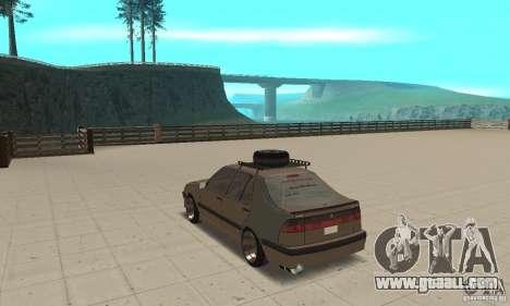 Saab 9000 GT Drifting 1998 for GTA San Andreas back left view