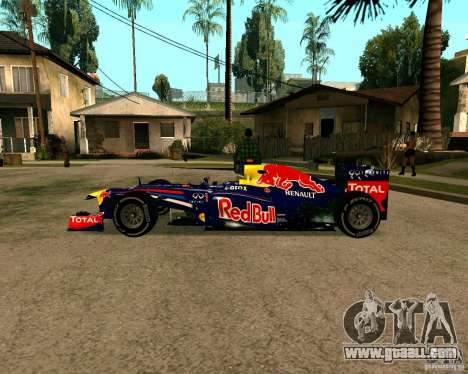 Red Bull RB8 F1 2012 for GTA San Andreas left view