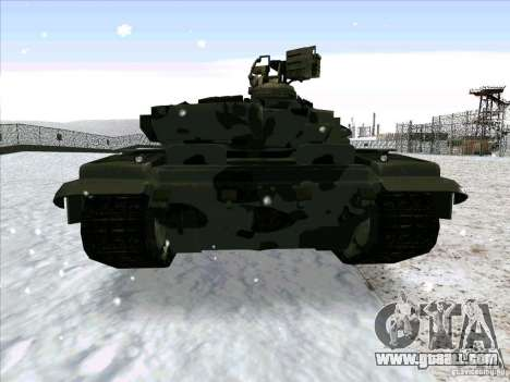 T-90 from Battlefield 3 for GTA San Andreas right view