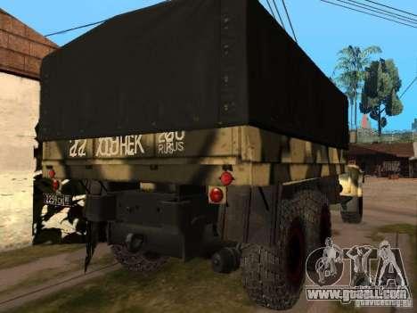 KrAZ 255 B1 v 2.0 for GTA San Andreas back view