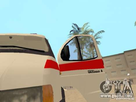 Gazelle 2705 ambulance for GTA San Andreas back view