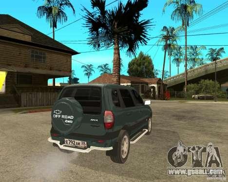 NIVA Chevrolet for GTA San Andreas back left view