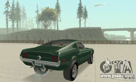 Ford Mustang Bullitt 1968 v.2 for GTA San Andreas left view