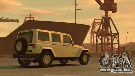 Jeep Wrangler Unlimited Rubicon 2013 for GTA 4 back left view