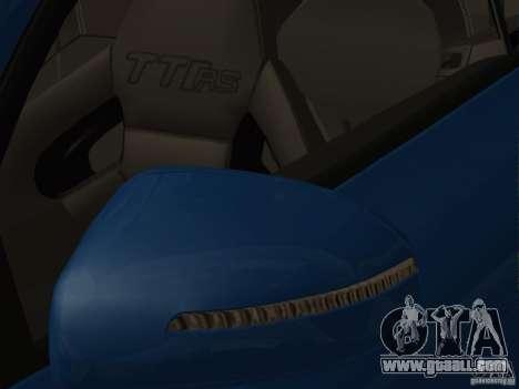 Audi TT RS for GTA San Andreas bottom view