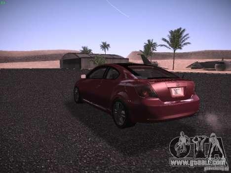 Scion tC for GTA San Andreas right view