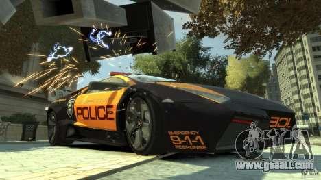 Lamborghini Reventon Police Hot Pursuit for GTA 4 left view
