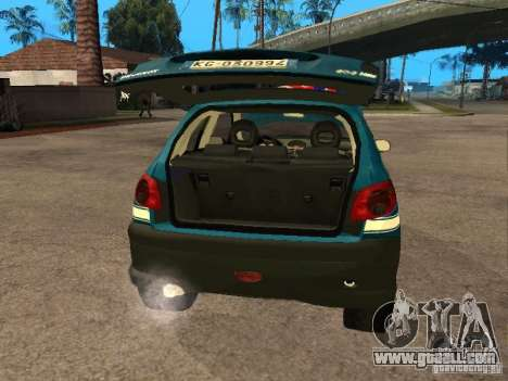 Peugeot 206 Police for GTA San Andreas back view