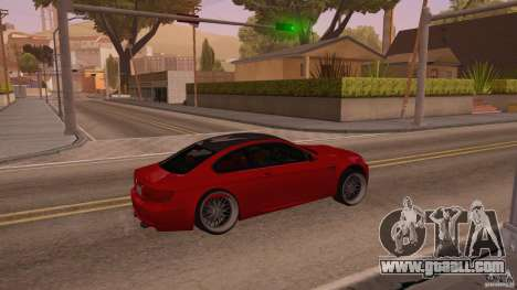 BMW M3 E92 Slammed for GTA San Andreas right view