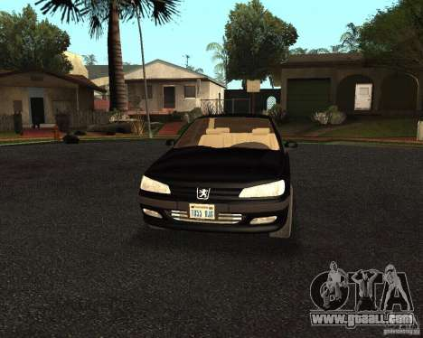Peugeot 406 for GTA San Andreas inner view