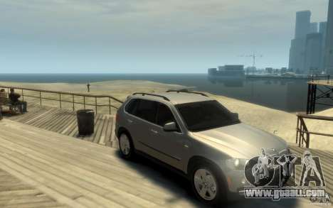 BMW X5 E70 Chrome for GTA 4 back view
