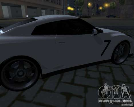 Nissan GTR-35 Spec-V for GTA San Andreas upper view