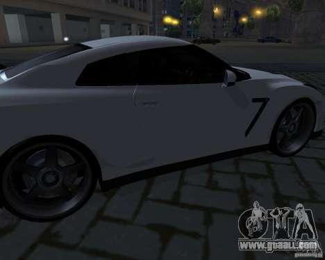 Nissan GTR-35 Spec-V for GTA San Andreas upper view