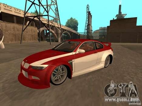 BMW M3 E92 Tunable for GTA San Andreas engine