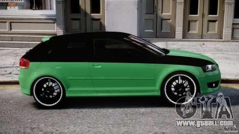 Audi S3 for GTA 4 bottom view